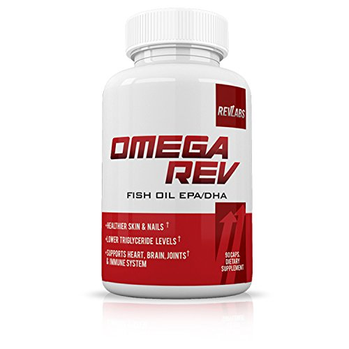 RevLabs- Omega Rev-Omega 3 Fish Oil Supplement EPA/DHA- Supports Heart, Brain, Joints & Immune System- Lower Triglyceride Levels- Healthier Skin & Nails