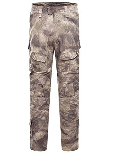 AKARMY Men's Military Tactical Casual Camouflage Multi-Pocket BDU Cargo Pants Trousers G3WF Gesha