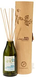 Paddywax Eco Green Fragrance Diffuser, Basil and Cucumber