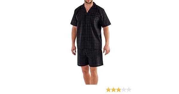 hombre verano Set Pijama Top Manga Corta & Pantalones Cortos - MN100 Check, X-Large: Amazon.es: Ropa y accesorios