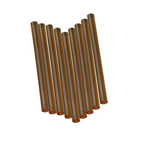12x Pdr Toolds Schmelzkleber Klebstoff Hart Beule Haarverlängerung Braun-Sticks Klar