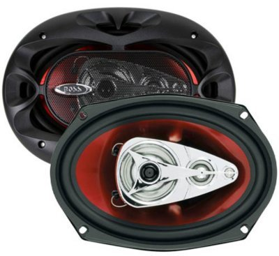 CH6940 - BOSS Audio CH6940 Speaker - Black and red, Poly injection, Universal -
