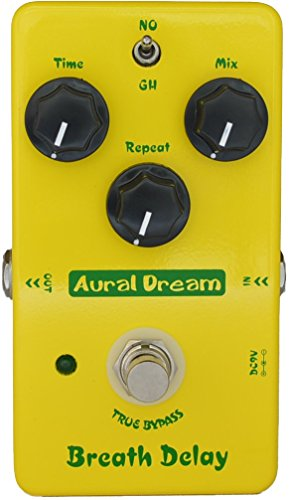 (Aural Dream Breath Delay Classical Atmosphere Analog BBD Delay Post rock 600ms delay time 2 modes Guitar Effects Pedal True Bypass)