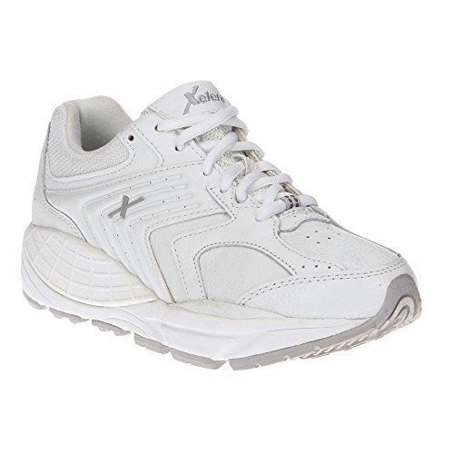 Xelero Matrix Women's Comfort Therapeutic Extra Depth Sneaker Shoe: White/Blue 8.5 Medium (B) Lace by Xelero (Image #3)