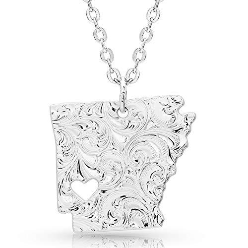 (Montana Silversmiths I Heart Arkansas State Charm Necklace)