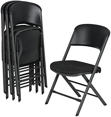 Incredible Lifetime 480621 Contemporary Padded Folding Chairs 4 Pack Charcoal Gray Ocoug Best Dining Table And Chair Ideas Images Ocougorg