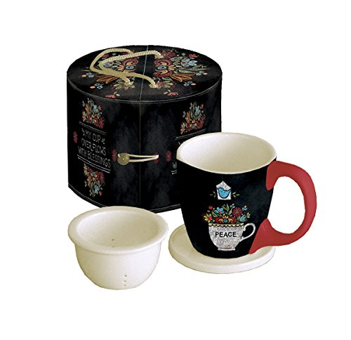 Lang 5054033 Blessings Tea Cup Set by Susan Winget, Assorted (Cup Susan)