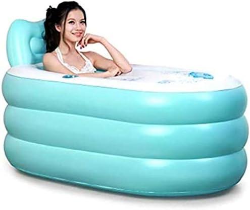 インフレータブル浴槽浴槽肥厚折りたたみ式浴槽大人浴槽インフレータブル,Blue-130*70*70cm
