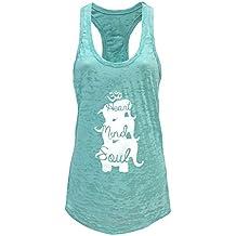 Tough Cookie's Women's 3 Elephant Yoga Print Burnout Tank Top