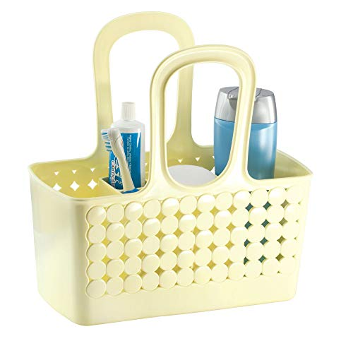 iDesign Orbz Plastic Bathroom Divided Shower Tote, Small College Dorm Caddy for Shampoo, Conditioner, Soap, Cosmetics, Beauty Products, 11.75