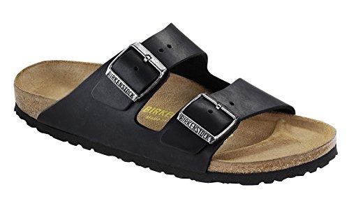 Birkenstock Women's Arizona 2 Strap Soft Cork Footbed Sandal Black 37 M EU