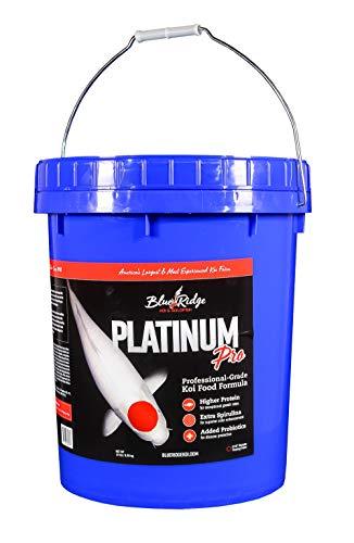 Blue Ridge Fish Food Pellets [14lb], Koi and Goldfish Platinum Professional Formula, Floating 3/16 Pellet, Balanced Diet