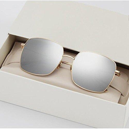 green masculinas antideslumbrante Gafas femeninas UV Eye dark de WLHW gafas polarizadas libre UV sol de cuadrado frame Gold gafas al Color viaje mercury frame retro sol coreanas aire Gold de marco 7nqx8d8wtp
