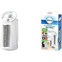 Febreze FHT180W HEPA-Type Mini Tower Air Purifier with Replacement Dual Action Filter, 1-Pack