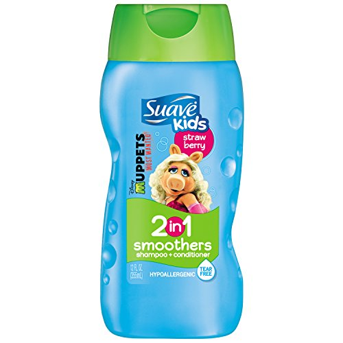 Suave Kids 2 in 1 Shampoo and Conditioner, Strawberry Smoothers 12 (Hair Smoothers 2in 1 Shampoo)