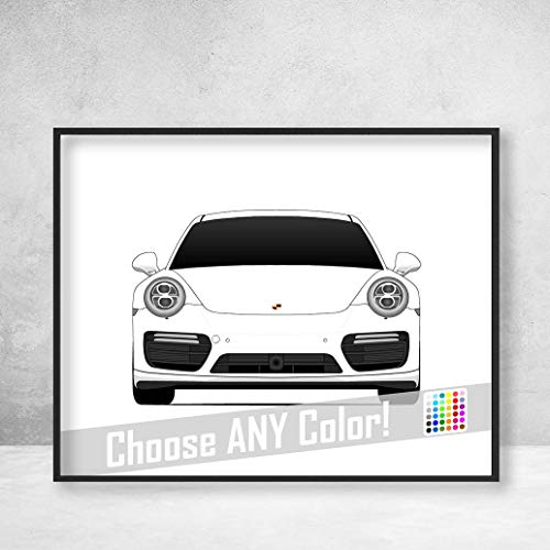 (Porsche 911 Turbo (991) Poster Print Wall Art Decor Handmade Carrera S GTS Targa GT3 R Turbo S)