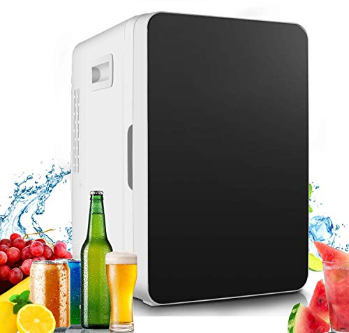 Mini Fridge, Mini Refrigerator with 20-Liter Large Capacity, Cooler/Warmer with Temperature Control, Single Door Mini Fridge Freezer for Cars, Road Trips, Homes, Offices & Dorms