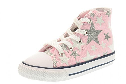 Converse Baby Sneakers High 756837C CTAS Hi Fairy Pink Stars Little Kid Size 6 M US ()