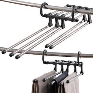 Useful 5 in 1 Multifunction Portable Pants Hanger Magic Trou