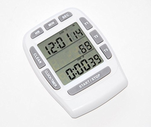 Price comparison product image Triple timer clock kitchen 3 alarm fridge magnet digital lcd count down egg bbq