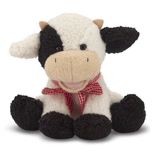 Melissa & Doug Meadow Medley Calf - Stuffed Animal Baby Cow With Moo Sound Effect (Medley Farm)