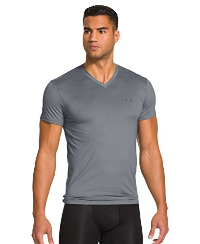 Under Armour UA Elite V Neck Undershirt - Men's Steel / Clear Large