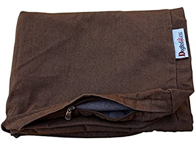 Heavy Duty Chocolate Brown Denim Jean Dog Pet Bed External Cover - Replacement cover only - 6 Sizes : Small Medium, Large, XL, XXL and XXXL