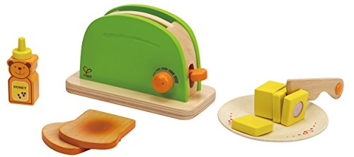 Amazon.com: Hape Pop Up Toaster Wooden Play Kitchen Set With Accessories:  Toys U0026 Games
