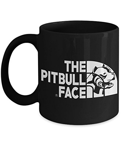 PIT BULL COFFEE MUG ~ Pit bull owner gifts-Ideal dog lover gifts/Unique gift idea for some one who love/looking for English-terrier-boxer breed-dog-rescue-puppy-items-accessories, Black 11 Oz tea - The 2015 Polarized Makes Who Sunglasses Best