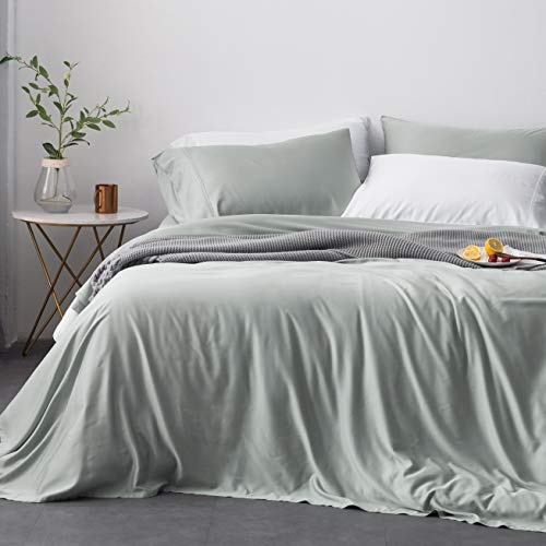 Oasis Fine Linens Island Bamboo Collection (California King, Silver Sage)