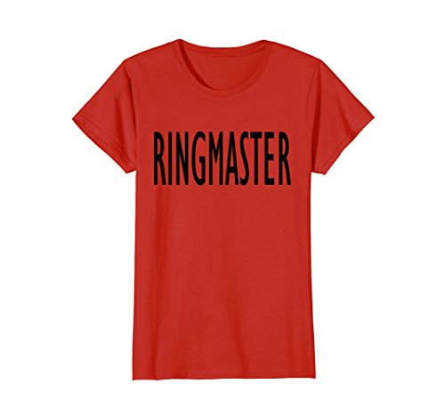 Womens Funny Busy Parent Mom Dad Ringmaster Costume T-Shirt Medium (Dance Costumes Ringmaster)