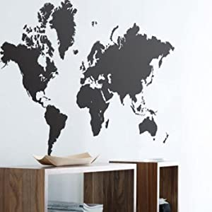 World Map Wall Sticker   Wall Art Graphics Part 80