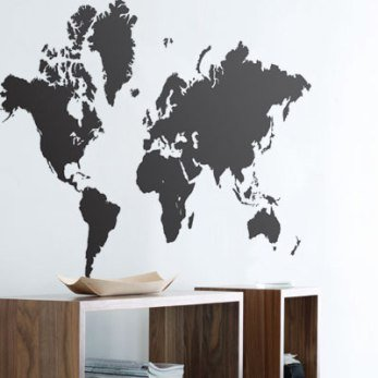 World map wall sticker wall art graphics amazon kitchen home world map wall sticker wall art graphics gumiabroncs Gallery