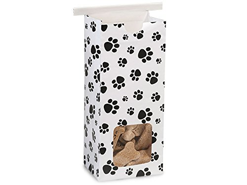Tin Tie Coffee Bag 100 Count - 1/2 LB - Paw Print