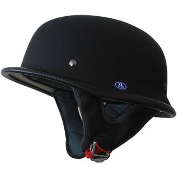 baseball hat style motorcycle helmet cap under low profile half black