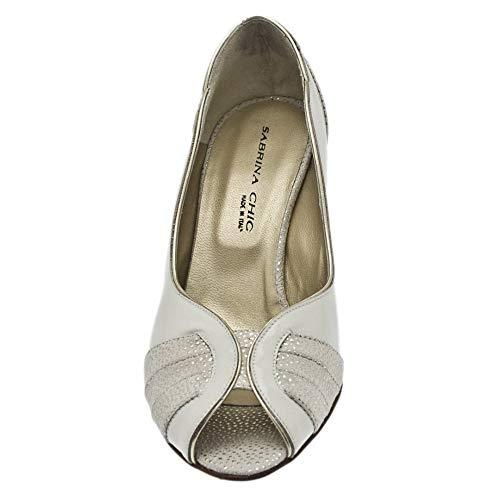 Zapatos mujer tacón crema con Sabrina Chic Aqw8Cz