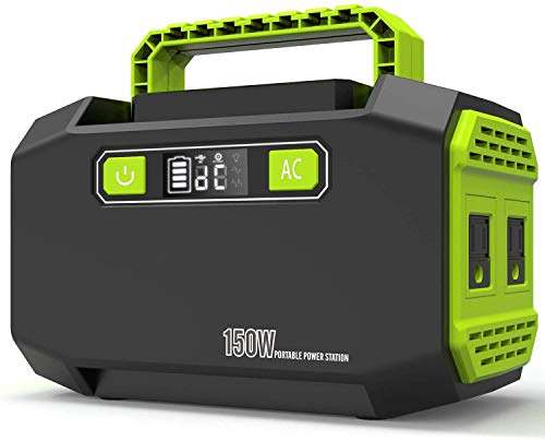JIMAITEAM Portable Power Station P16, 167Wh Backup Lithium Battery, Solar Generator with Dual 110V/150W AC Outlet, 3 DC Ports, 2 USB Ports, for Outdoors Camping Travel Emergency Uncategorized