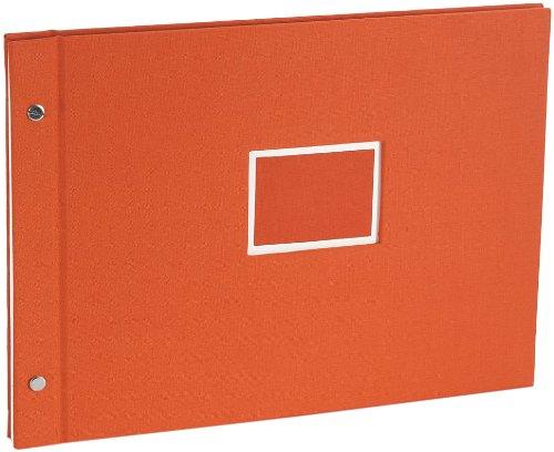 Semikolon Large (A4) Refillable Linen Photo Album, Orange...