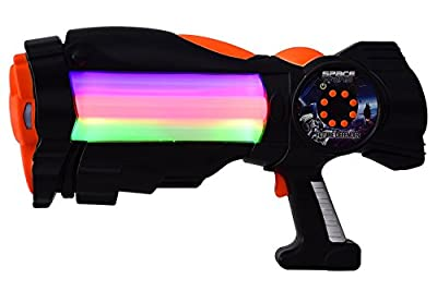 SPACE WARS SERIES: PLANET OF TOYS SPACE GUN 38CMS BLACK (LED LIGHT AND SOUND) For Kids / Children