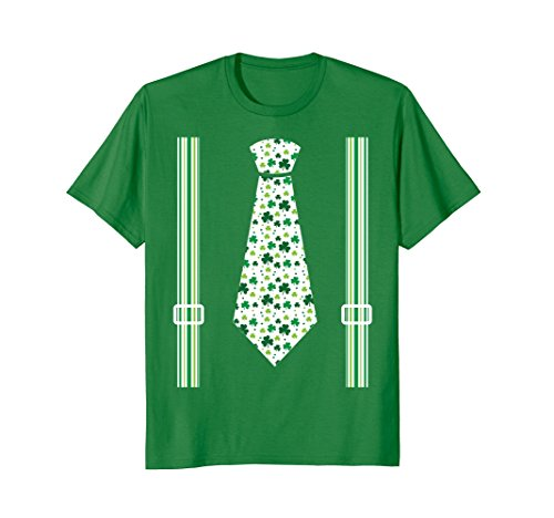 Cute St Patricks Day Kids Tie Suspenders T Shirt Costume