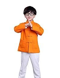 100% Handmade Boys Long Sleeve Kung Fu Tai Chi Martial Arts Kids Jacket#105