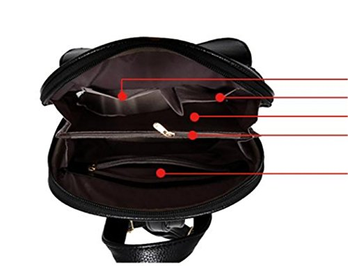 Girl Women School Travel Backpack Satchel H Bag Bag Pink Leather Rucksack TAVEL Fashion Shoulders Mini new q0CTwx