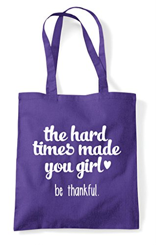 Girl Tote Shopper Thankful You Made Be Hard Purple Statement The Times Bag HS8xIIF