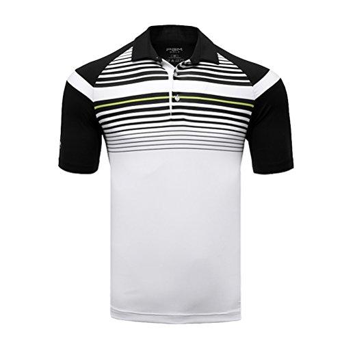 Kayiyasu ポロシャツ メンズ ゴルフウェア UVカット ゴルフシャツ オシャレ スポーツシャツ 男性用 半袖 Tシャツ 運動着 日焼け止め 021-xsty-yf123(M ネイビー)