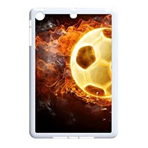 DIY soccer ball on fire Phone Case, DIY Cell Phone Case for ipad mini with soccer ball on fire (Pattern-5)