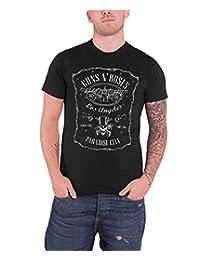 Guns N Roses T Shirt Paradise City LA Band Logo Label Official Mens New Black