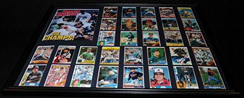1987 World Series Teams - 1987 Minnesota Twins World Series Champions Team Signed Framed 18x24 Photo Set - Autographed MLB Photos