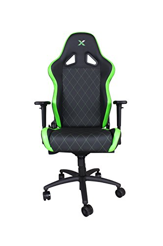 Ferrino XL Green on Black Gaming and Lifestyle Chair by RapidX (Porsche Racing Wheel)