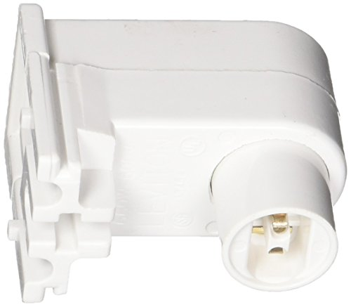 Leviton 13464-W Fluorescent Lampholder, Pedestal Base With 20GA Side Grooves