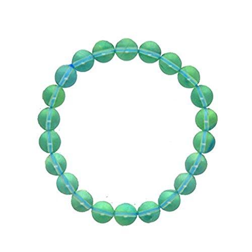 Saint Valentin Jour Cadeau pour Tirio fluorite Bleu océan lumière Bracelet 8mm Mala de méditation Pierre de mise à la terre protection